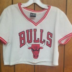 Bulls crop jersey